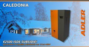 Caledonia pelletketels – €1250 subsidie