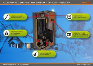 Adler Caledonia zelfreinigende pelletketel goedkope prijs ISDE subsidie