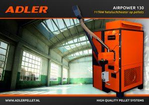 Adler Airpower pellet airheater gratis subsidie goedkoop pelletketel
